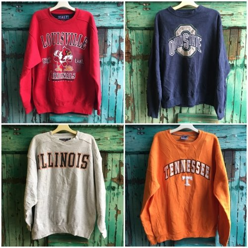 College Sweatshirts by the bundle: Bulk Vintage Clothing