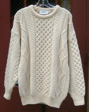 Fishermans Sweater White Womens 78