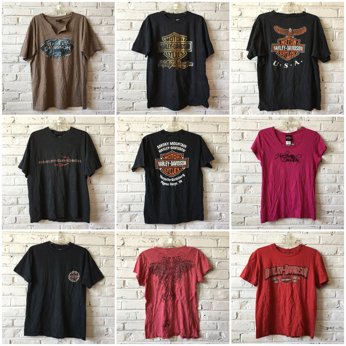 harley davidson t-shirts by the bundle- on backorder: bulk vintage